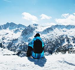 Zonnebril mee op wintersport